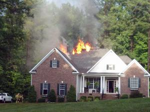 Investigators think lightning may have sparked the fire at 1126 Corrina Road.