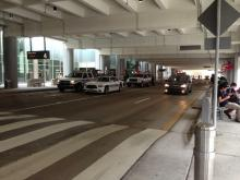 A viewer submitted this photo of emergency personnel responding to a report of a suspicious bag at Terminal 2 at Raleigh-Durham International Airport.