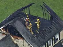 Sky 5: Fire crews battle blaze in Willow Spring