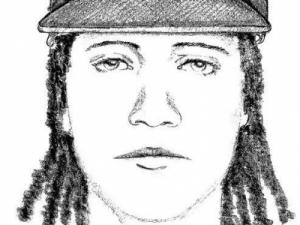 Duke University police released this sketch of a man wanted in connection with a July 15 armed robbery near Duke Gardens.