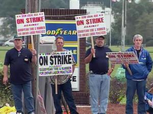 Goodyear employees last went on strike for three months in 2006.