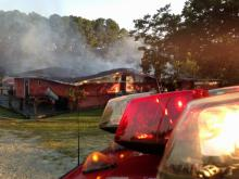Firefighters from several local departments responded to a fire early Friday at Pitchers Bar in Benson, Johnston County officials said.