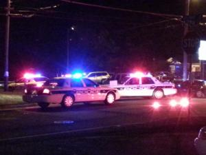 Durham police are investigating a crash that sent two people to the hospital Saturday night.