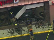 SUV crashes into Raleigh Wendy's