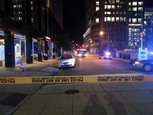 A man riding a bike on Wilmington Street in downtown Raleigh was killed Wednesday night when he collided with a bus, police said.