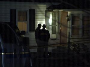 The Wayne County Sheriff's Office investigates a double homicide on Waller Road in Mount Olive on Nov. 5, 2013.