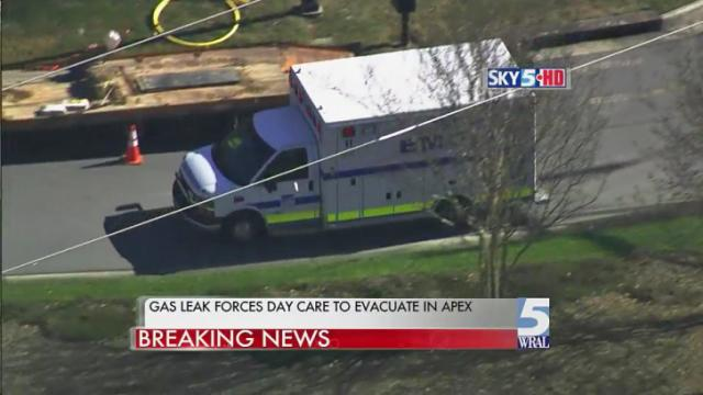 Apex day care evacuated during gas leak