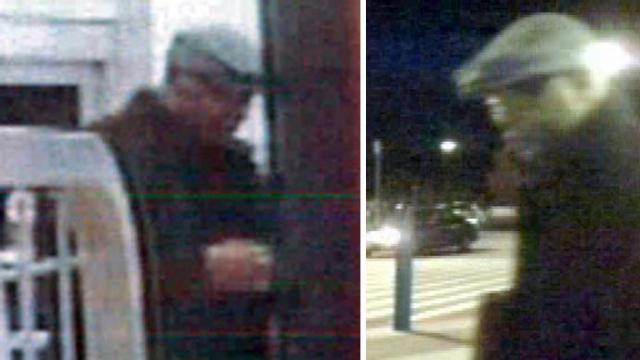 Raleigh police say they are searching for this person, seen in two surveillance photos, who used a stolen credit card on Nov. 14, 2013.