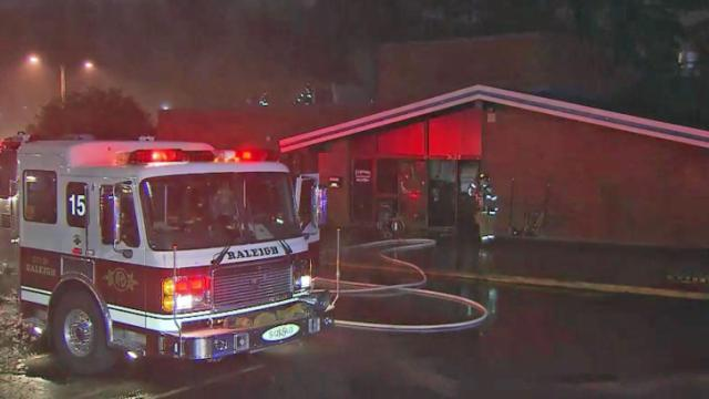 Fire broke out at Fitzgerald's Seafood on Millbrook Avenue in Raleigh early Monday, Dec. 9, 2013.