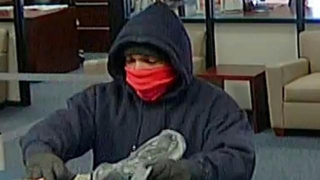A masked man is believed to be responsible for four bank robberies in Wake and Franklin counties since December.