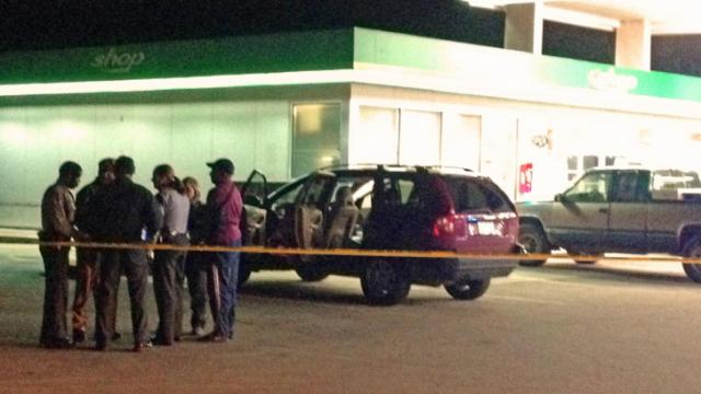 Shots were fired Dec. 19, 2013, at a BP store in Vance County. (Arielle Clay / WRAL)