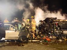 Two people were killed after a two-vehicle accident on U.S. 1 just north of Southern Pines Wednesday night. (Billy Marts/Aberdeentimes.com)