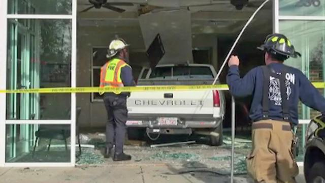 Truck crashes into doctor's office in Clayton