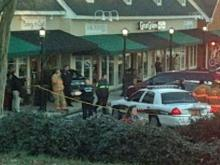 A car crashed into Cary's Sugar Buzz Bakery and Café at 1231 Kildaire Farm Road Friday afternoon.