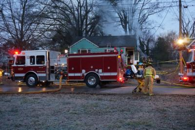 Raleigh firefighters were called out to 605 Hartford Rd. Sunday morning for a house fire. (WRAL/Jamie Munden)