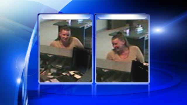 """Cumberland County deputies are looking for the """"Check Washing Bandit"""" after she attempted to fraudulently cash a $6,436 check at a bank."""