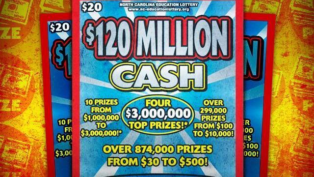 $120 Million Cash scratch-off game