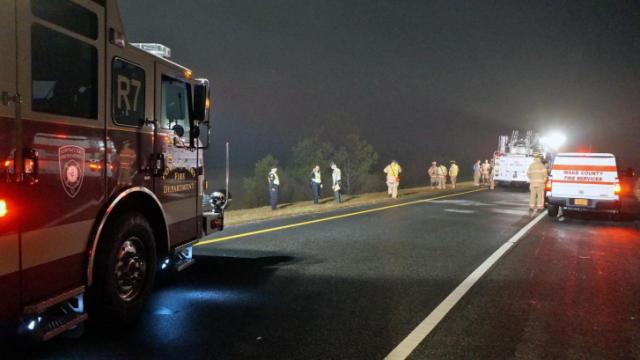 One person died early Saturday in a wreck on the ramp from Aviation Parkway to Interstate 540 East, Cary police said.