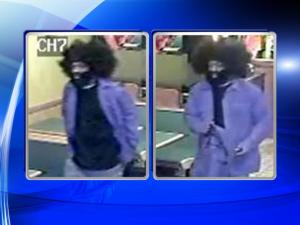 Raleigh robber dons big wig disguise