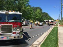 Four people were injured Saturday morning in a three-car wreck on Walnut Street in Cary, police said.
