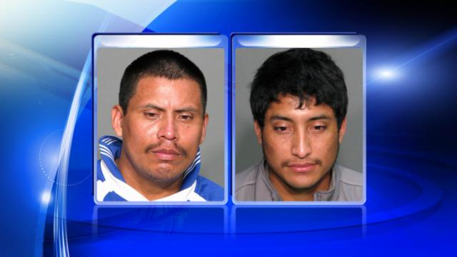 Rumaldo Ramirez Velasquez, left, and Ruben Gilberto Hernandez are charged in a March 29, 2014, homicide in Cary.