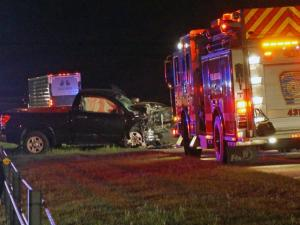 A wreck involving two cars briefly shut down both lanes of Interstate 40 West in Orange County early Friday, May 2, 2014.