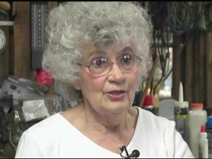 Betty Johnson threatened a would-be robber with a broom.