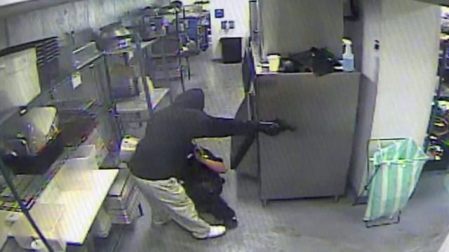 The Pit surveillance video still
