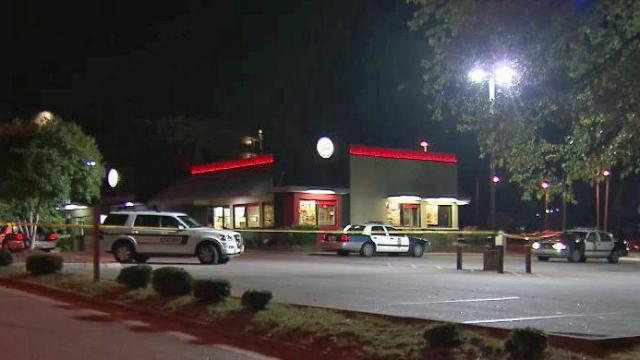 North Carolina State University police were searching early Tuesday for two men wanted in connection with an armed robbery that happened at a Burger King on Avent Ferry Road.