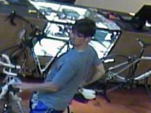 Chapel Hill police asked for the public's help Friday to locate a man wanted for taking a bicycle worth about $5,000 from a shop at University Mall.