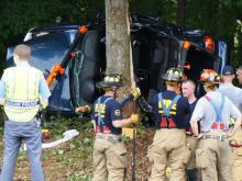 Rush hour traffic was backed up for miles Thursday afternoon after an accident closed two of three lanes on Interstate 40 East near Wade Avenue. (Adam Owens/WRAL)