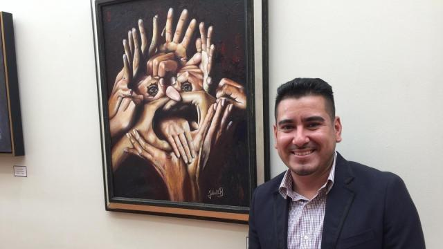 The work of Mexican artist Felix Maceda Baizabal is on display at the General Consulate of Mexico in Raleigh.