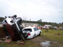 At least seven people were killed when a tornado touched down in the early morning hours of Thursday, Nov. 16.