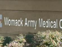 Womack Army Medical Center sign