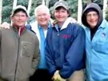 Ronald Hudler, 74, (second left) poses with his sons, Dale, Bill and Frederick Hudler (left to right). Ronald and Frederick Hudler and a Christmas tree farm employee, John S. Miller, 25, were found dead on Ronald Hudler's property in Virginia's Grayson County on Jan. 24, 2008.