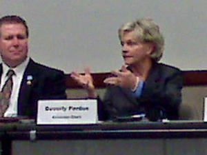 Governor-elect Bev Perdue met with municipal leaders Wednesday about economic issues
