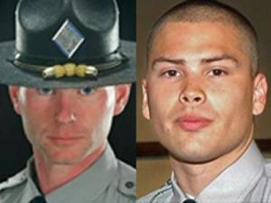 North Carolina state Troopers Andrew Stocks, 43, and David Blanton, 24, both died in the line of duty in 2008.