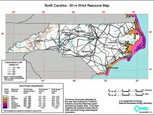 Wind energy areas in North Carolina