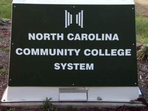 North Carolina Community College System sign