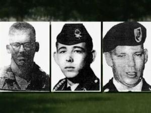 Three Green Berets based at Fort Bragg who were ambushed and killed in Vietnam more than 40 years ago were remembered at Arlington National Cemetery Wednesday.