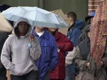 UNC students line up for Obama tickets