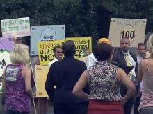 Demonstrators protest proposed Duke rate increase