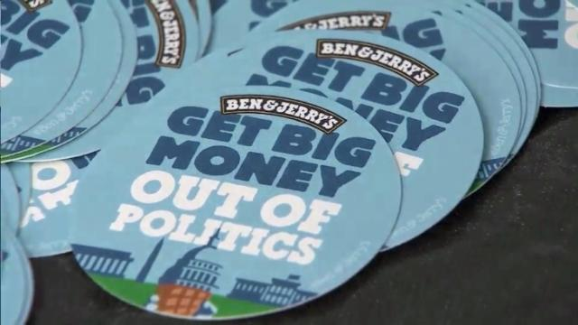 The founders of Ben & Jerry's ice cream launched a new flavor in Durham on May 17, 2016, as part of a nationwide voter registration drive and campaign finance reform effort.