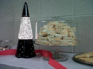 Opening day festivities at the General Assembly included everything from a lava lamp to pimento cheese sandwiches.