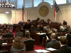 The majority party in North Carolina's legislature determines what issues will be debated and how.