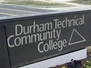 Durham Technical Community College sign, Durham Tech