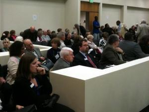 It was a packed house at the House Elections Committee's public comment hearing on Voter ID, H351
