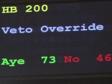 House overrides governor's budget veto