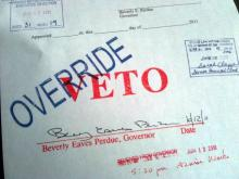 Budget veto override