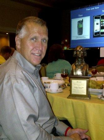 NC House Speaker Thom Tillis receives a legislative leadership award from ALEC, the American Legislative Exchange Council, in New Orleans.  (Photo from Facebook)